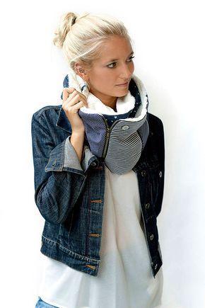 L écharpe Zip   Bijoux Youpla   couture   Pinterest   Echarpe ... b6a73c0f4c0