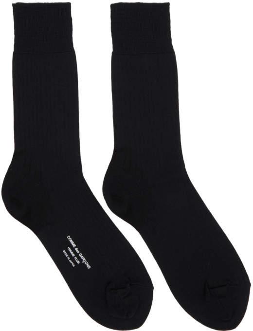 1d9926a7e1c Comme des Garcons Black Rib Socks