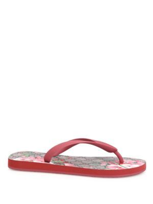 582322002a5 GUCCI Gg Bloom Rubber Flip Flops.  gucci  shoes  sandals