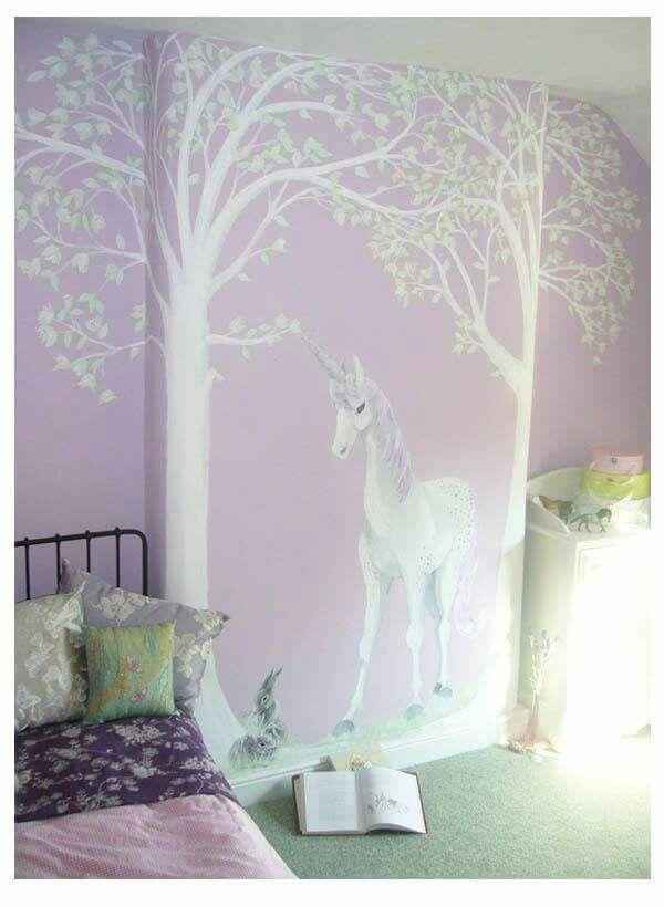 Wallpaper For Girls Room Uk Pin By Emily Abraham On Unicorn Themed Bedroom Ideas