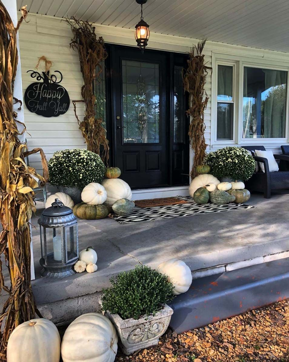 20 Dreamy Ideas For Decorating Your Front Porch For Fall Fall Decorations Porch Fall Outdoor Decor Fall Front Porch Decor
