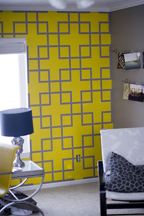 painters tape design==could be cute for a dorm room | home decor ...