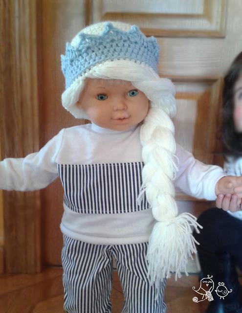 PATRÓN PARA HACER UNA PELUCA DE LANA DE ELSA DE FROZEN. Elsa, Frozen ...