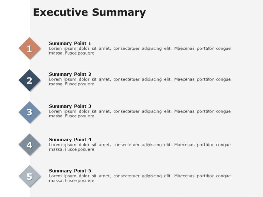 Executive Summary Slides 5 Pointer Executive summary