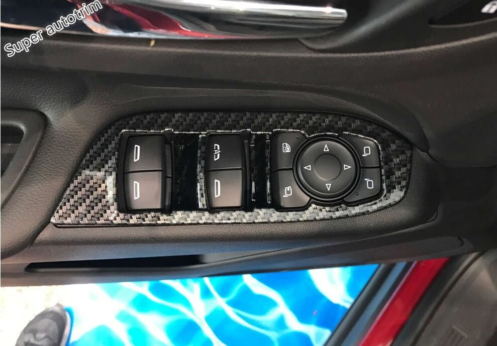 For Chevrolet Equinox 2017 Car Steering Wheel Cover Trim Carbon Fiber Style New