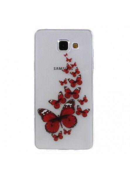 Coque Samsung Galaxy A5 2016 Papillons Rouges Samsung Galaxy A5