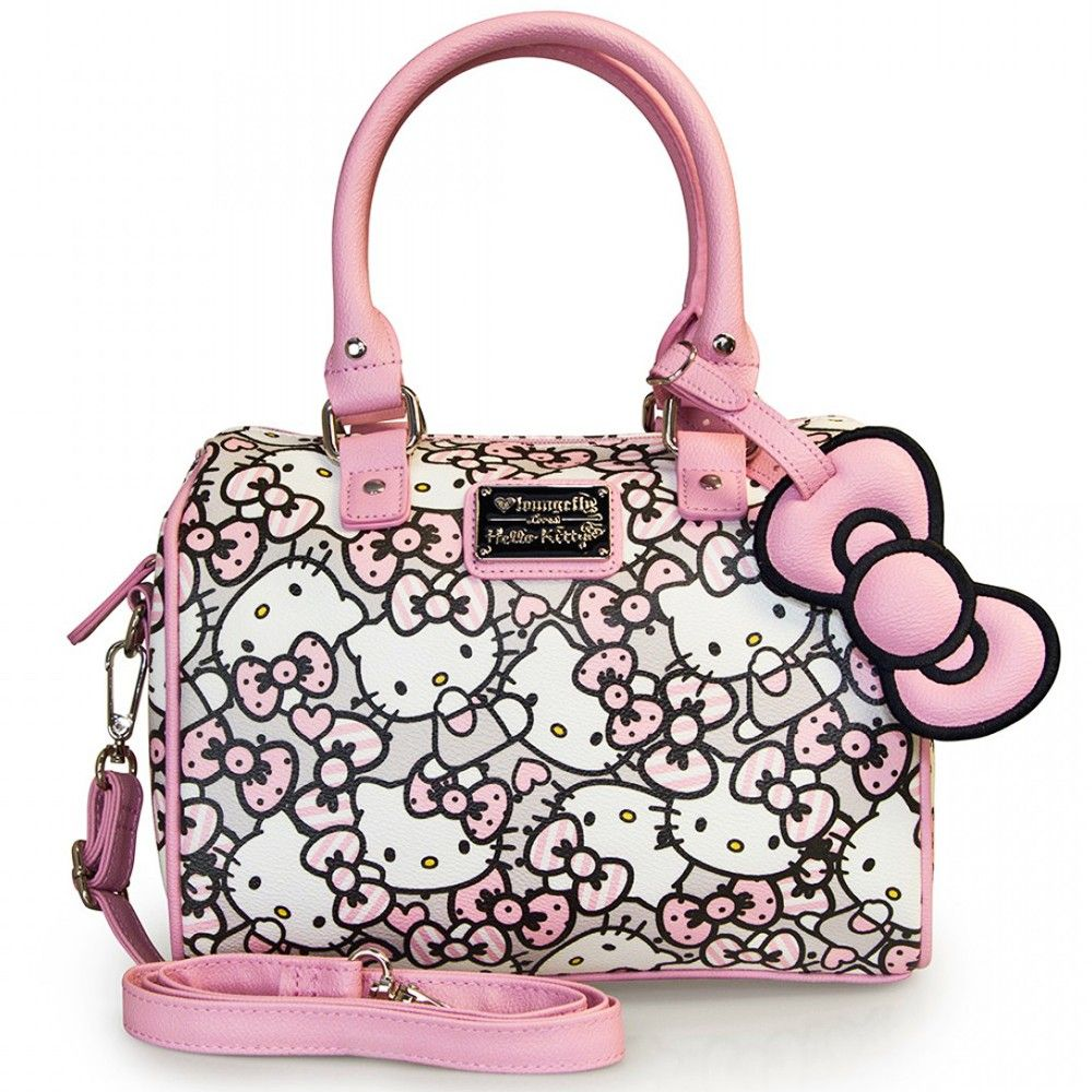 18beb50ab Hello Kitty Pink Bows Cross Body Handbag from Loungefly at ...
