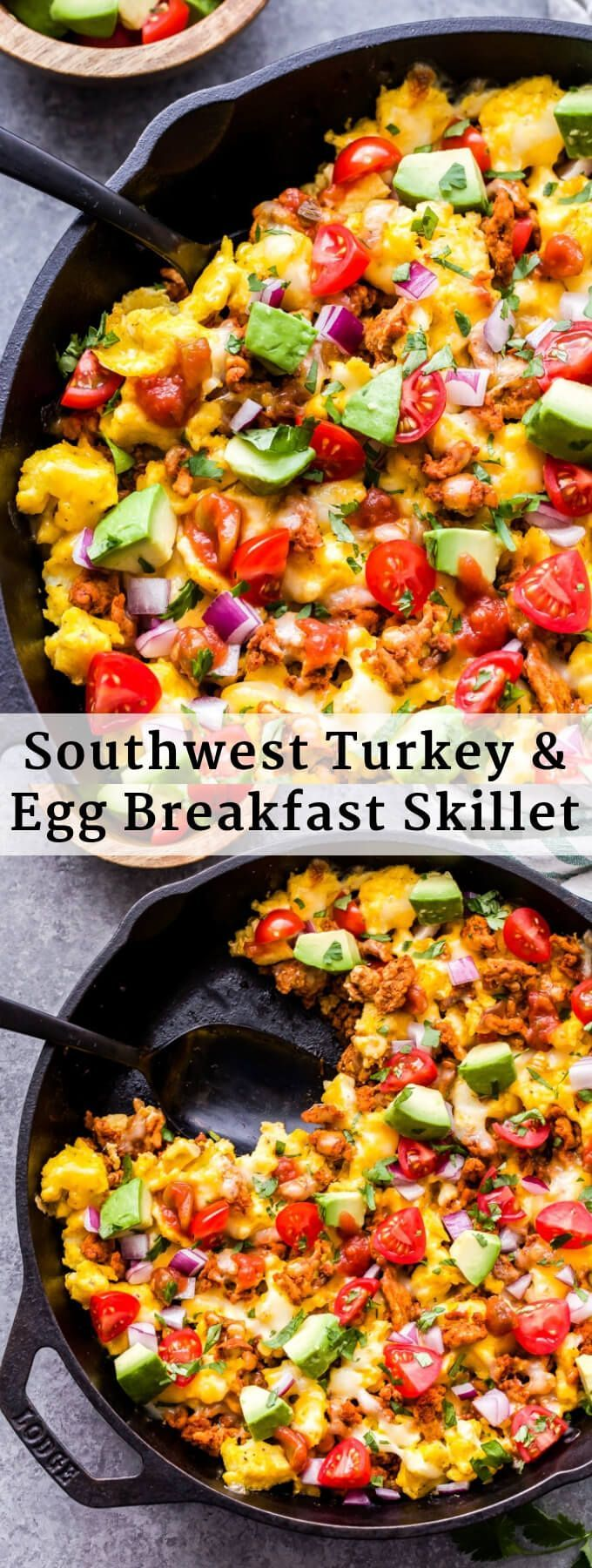 This Southwest Turkey And Egg Breakfast Skillet Is A Delicious And Filling Way To Start Your Day Sou Breakfast Skillet Recipes Breakfast Skillet Egg Breakfast