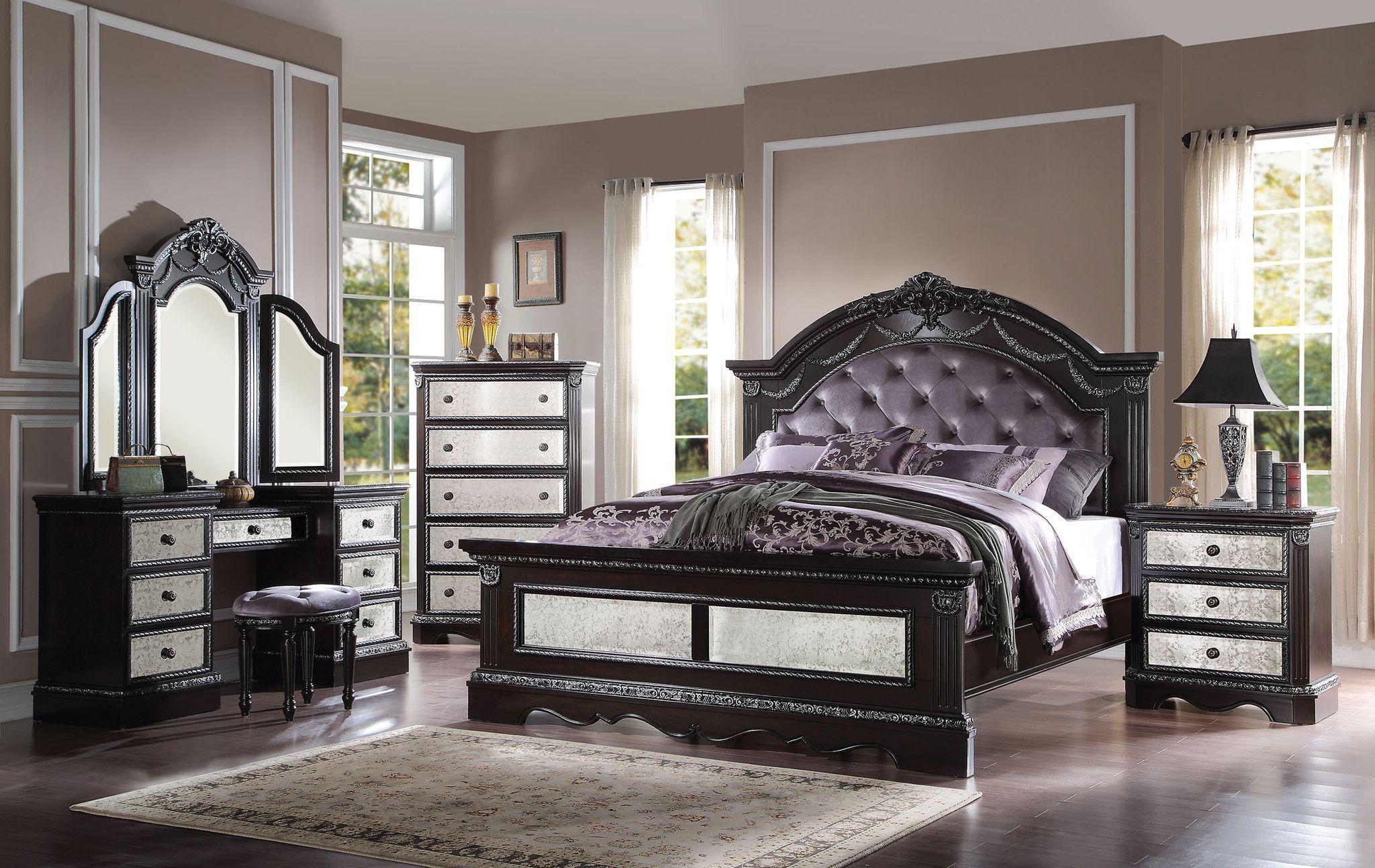 Athena Silver Eastern King Bed 20917EK Bedroom sets