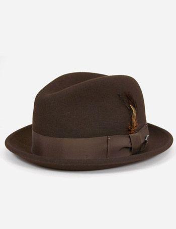 4e0d6b7da1202 Bailey Tino Felt Crushable Trilby Hat - Brown