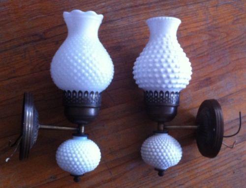 Details About Vintage 15 Milk Glass Hobnail Ceiling Fixture