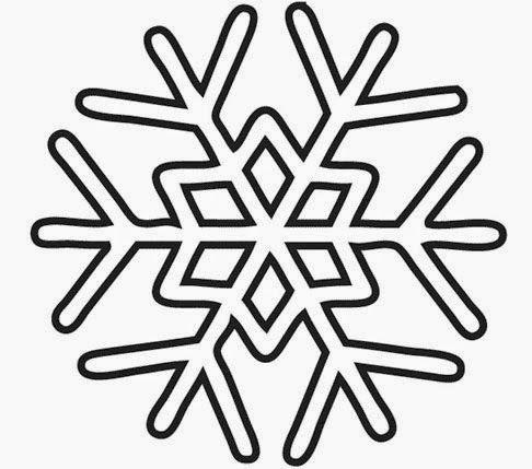 Molde Copo Nieve Plantilla De Copo De Nieve Copos De Nieve Copo De Nieve Dibujo