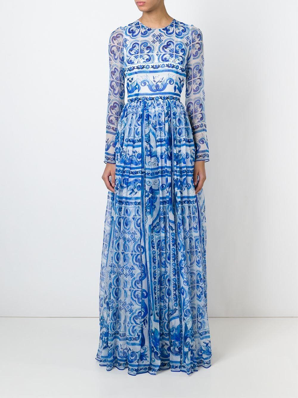764db030dfa3b3 Dolce & Gabbana 'majolica' Maxi Dress - Donne Concept Store - Farfetch.com