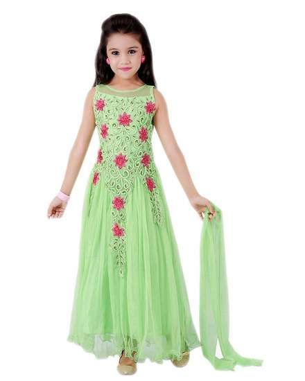 Buy Pashimo Girls Traditional Kids Wear Soft Net Semi Stitched Party Wear  Gowns (pash-kids Nav Green 8 - 12 Years) online shopping India  b8de540e0