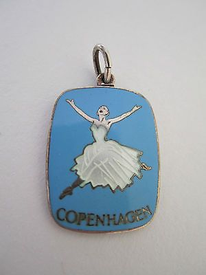 RARE Denmark Anton Michelsen Enamel Ballet Copenhagen Pendant Sterling Silver | eBay