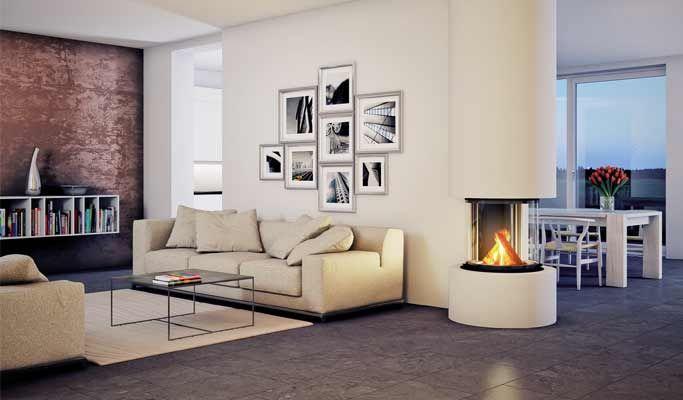 kamin odeon findet seinen vorzugsplatz im wohnzimmer oder im offenen hohen raum als wand wie. Black Bedroom Furniture Sets. Home Design Ideas