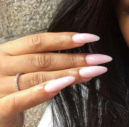 Nails Long Almond Bling 29 Ideas Almond Acrylic Nails Oval Nails Oval Acrylic Nails