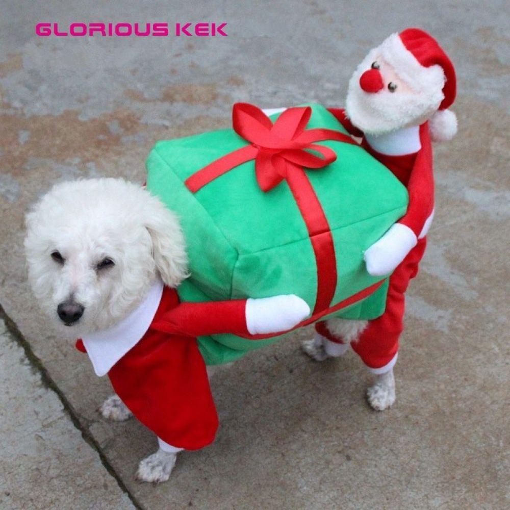 Christmas Dog Costumes Funny Santa Claus Dog Clothes Christmas