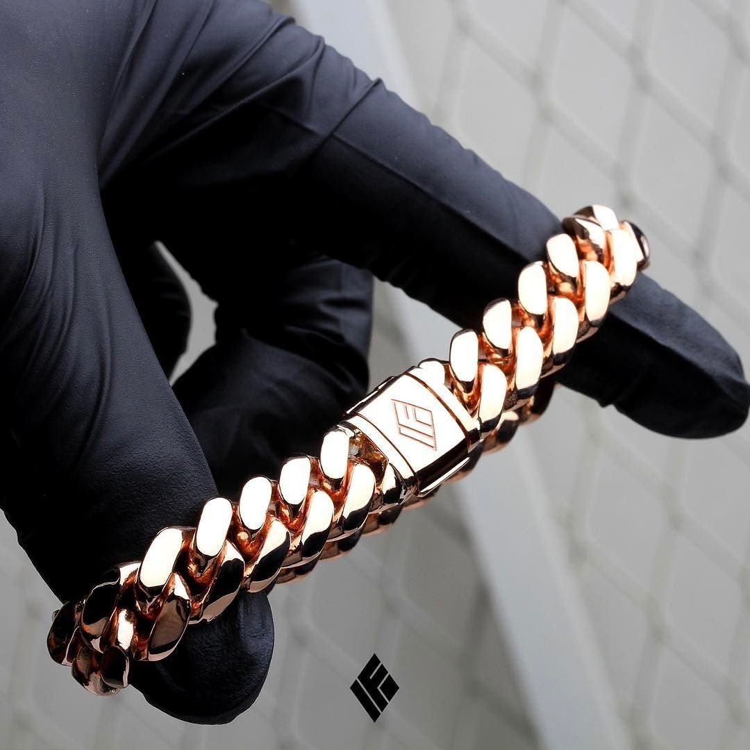 Solid 14k Rose Gold Cuban Link Bracelet 11mm Now Available On Www Ifandco Com Cubanlink Cu Mens Gold Bracelets Black Hills Gold Jewelry Mens Gold Jewelry