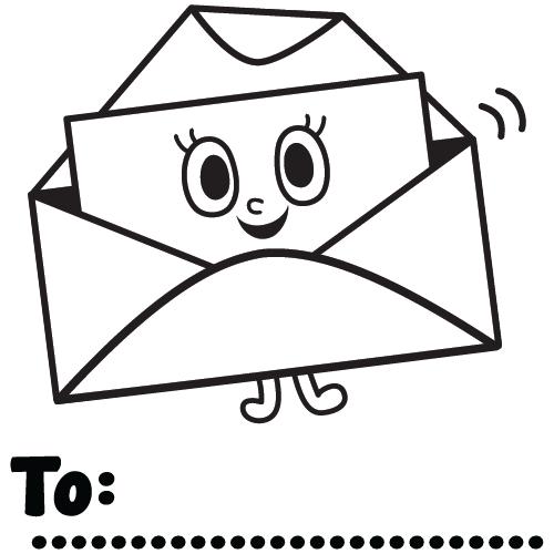 Post! mail Happy envelope