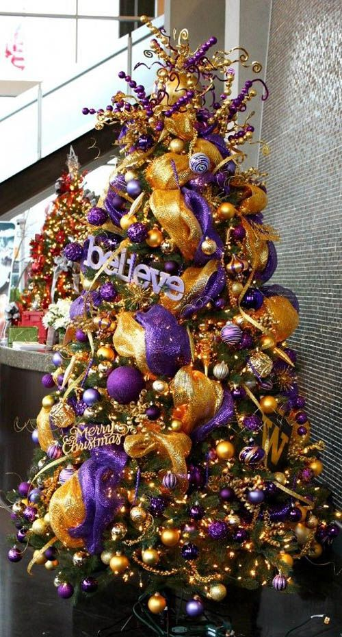 35 breathtaking purple christmas decorations ideas all about christmas christmas tree. Black Bedroom Furniture Sets. Home Design Ideas