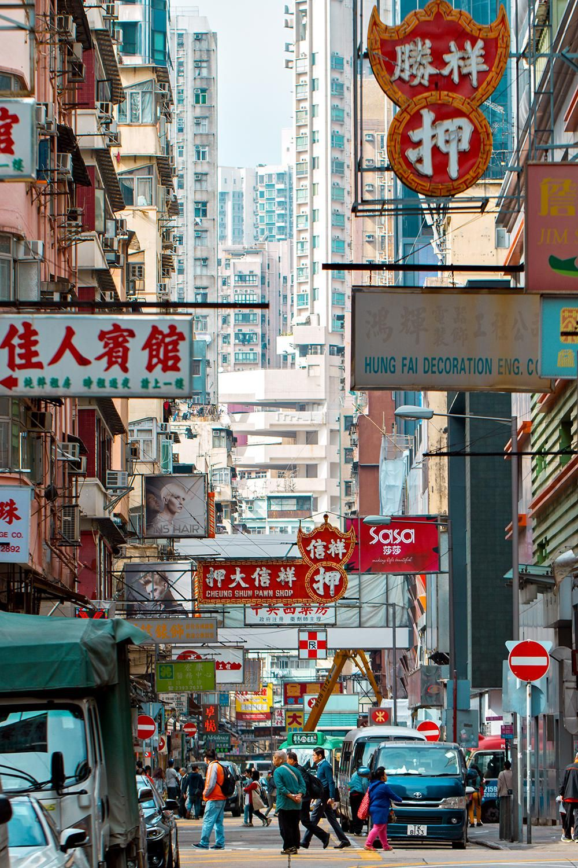 Busy Street In Mong Kok Hong Kong City Cities Buildings