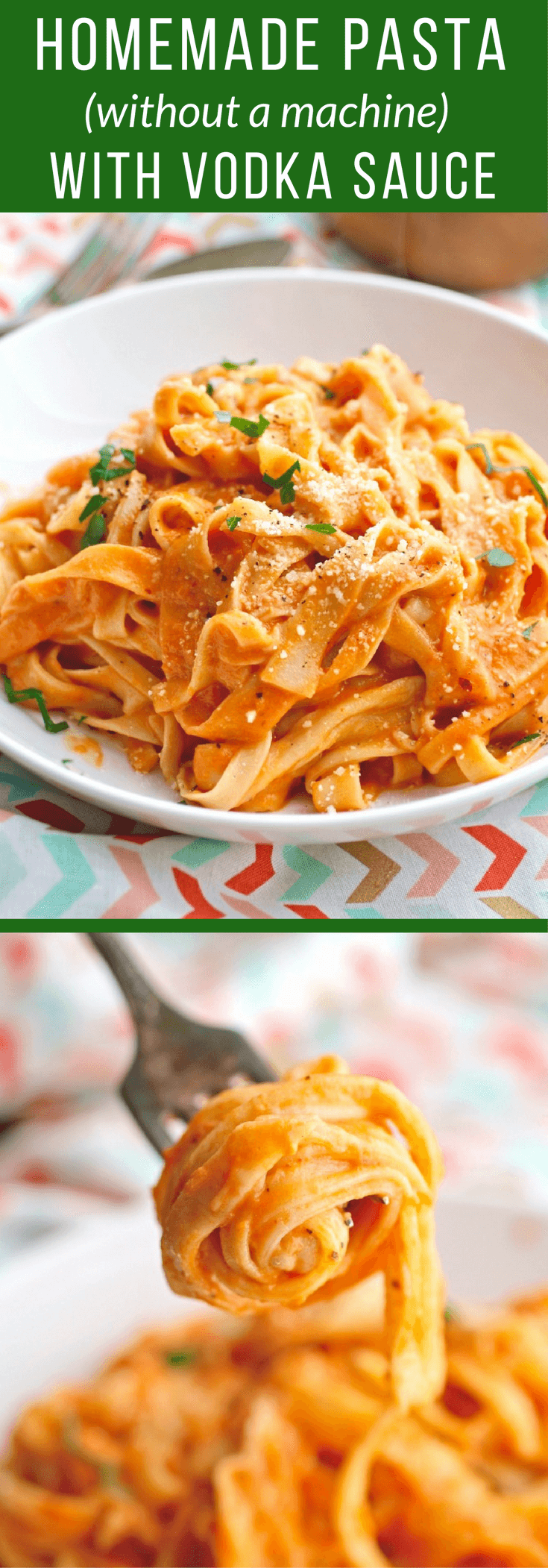 Homemade Pasta Without A Machine With Vodka Sauce Recipe Homemade Pasta Recipe Homemade Pasta Vodka Sauce