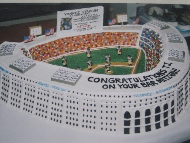 Upper East Side Yankee Stadium Cake