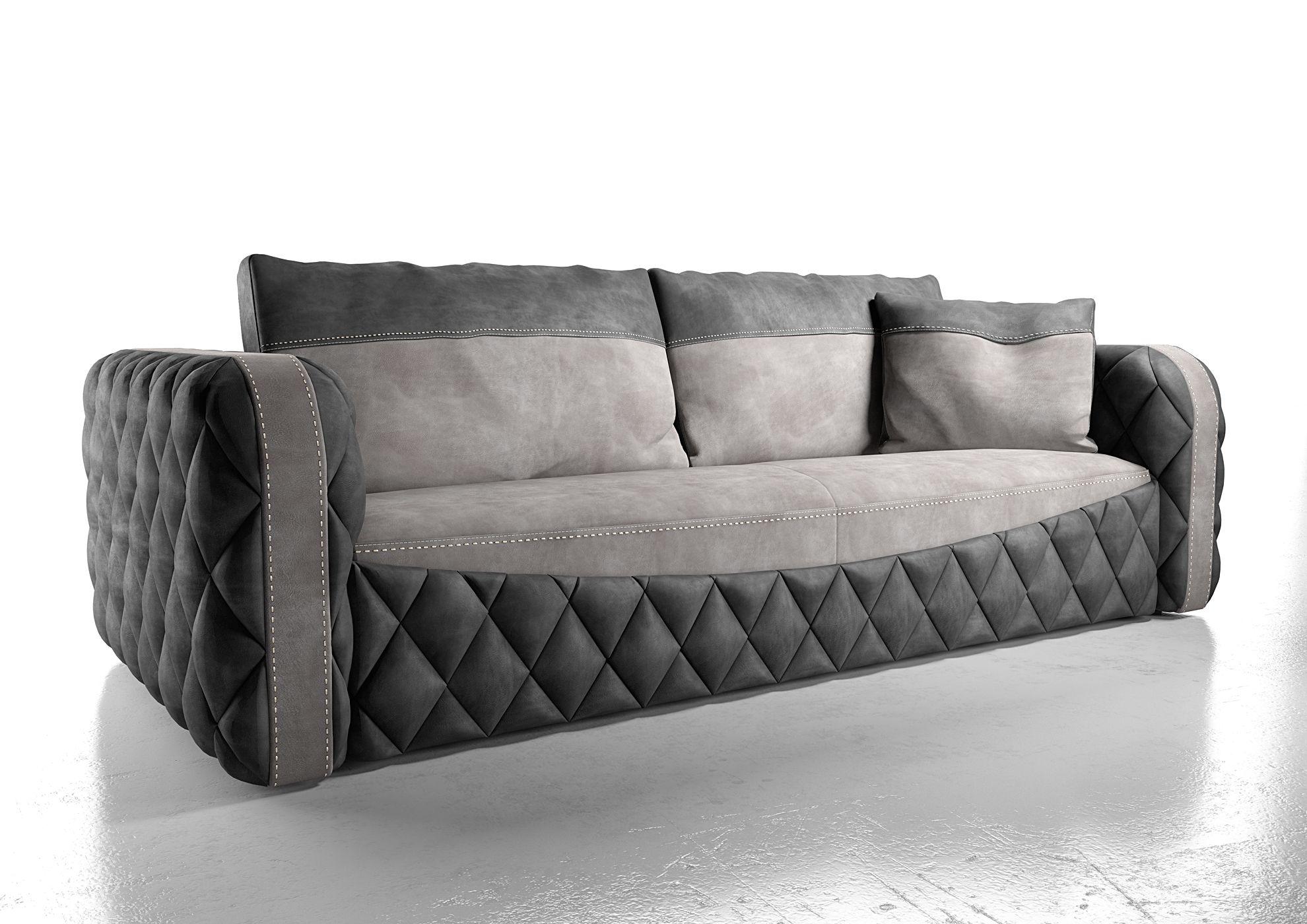 Modello 3d serie Glamour di Formenti divani.