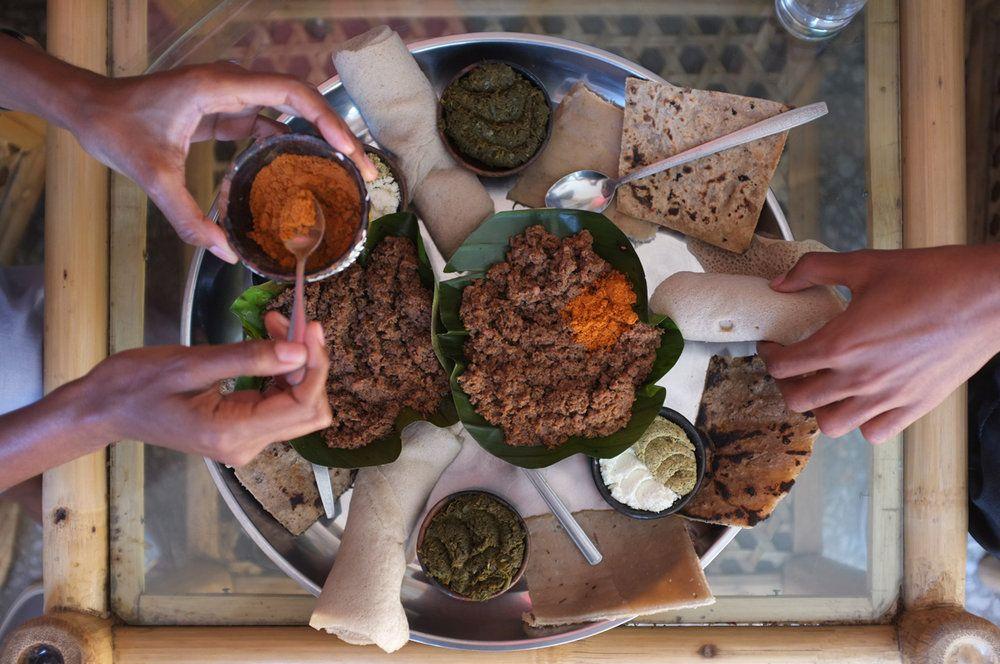 Yimana kifto tsige shiro ethiopia food stuffed
