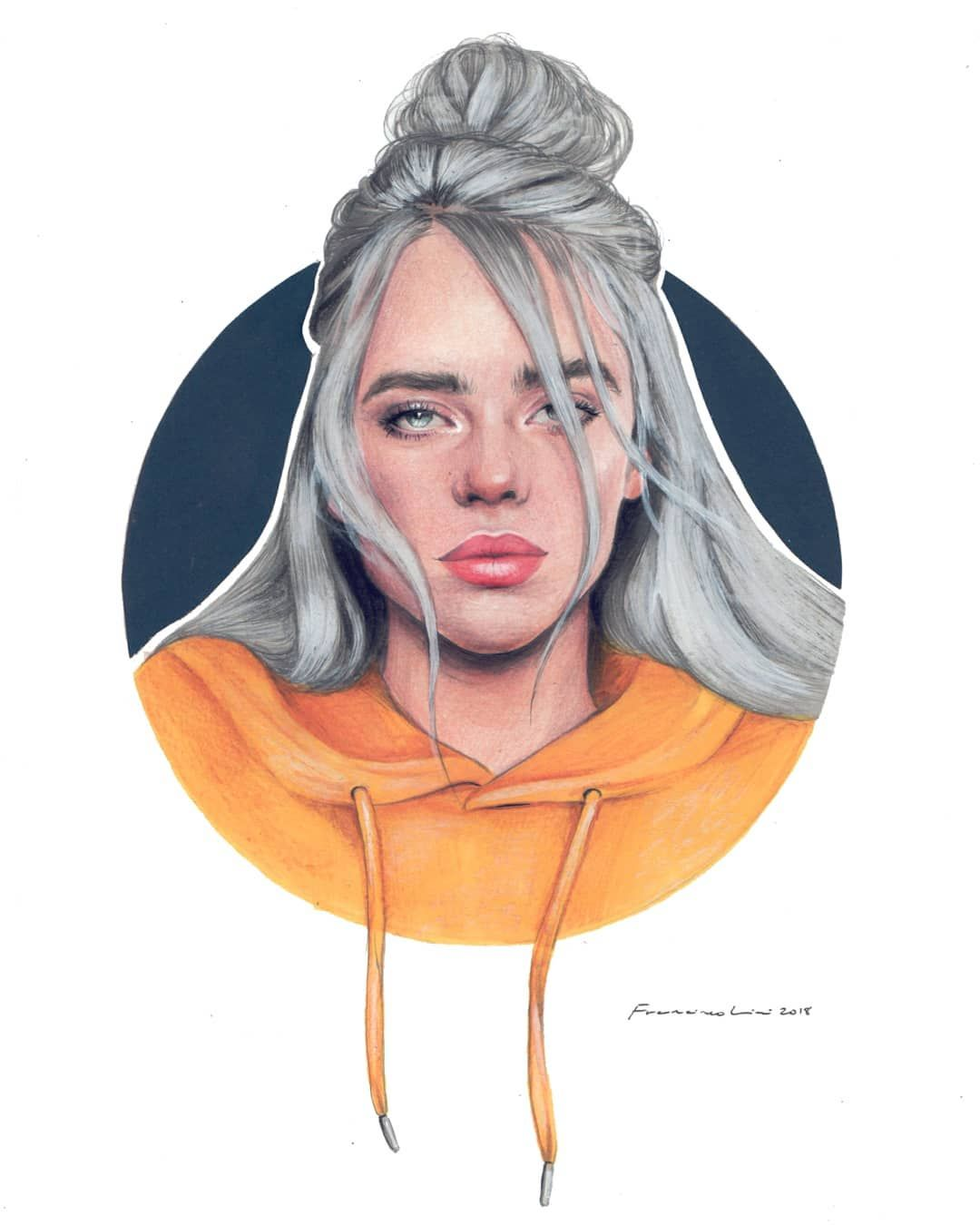 Billie Eilish Francisco Licari Fran Licari On Instagram I Ve Been Watching You For Some Time Can T Stop Staring A Billie Eilish Billie Celebrity Drawings