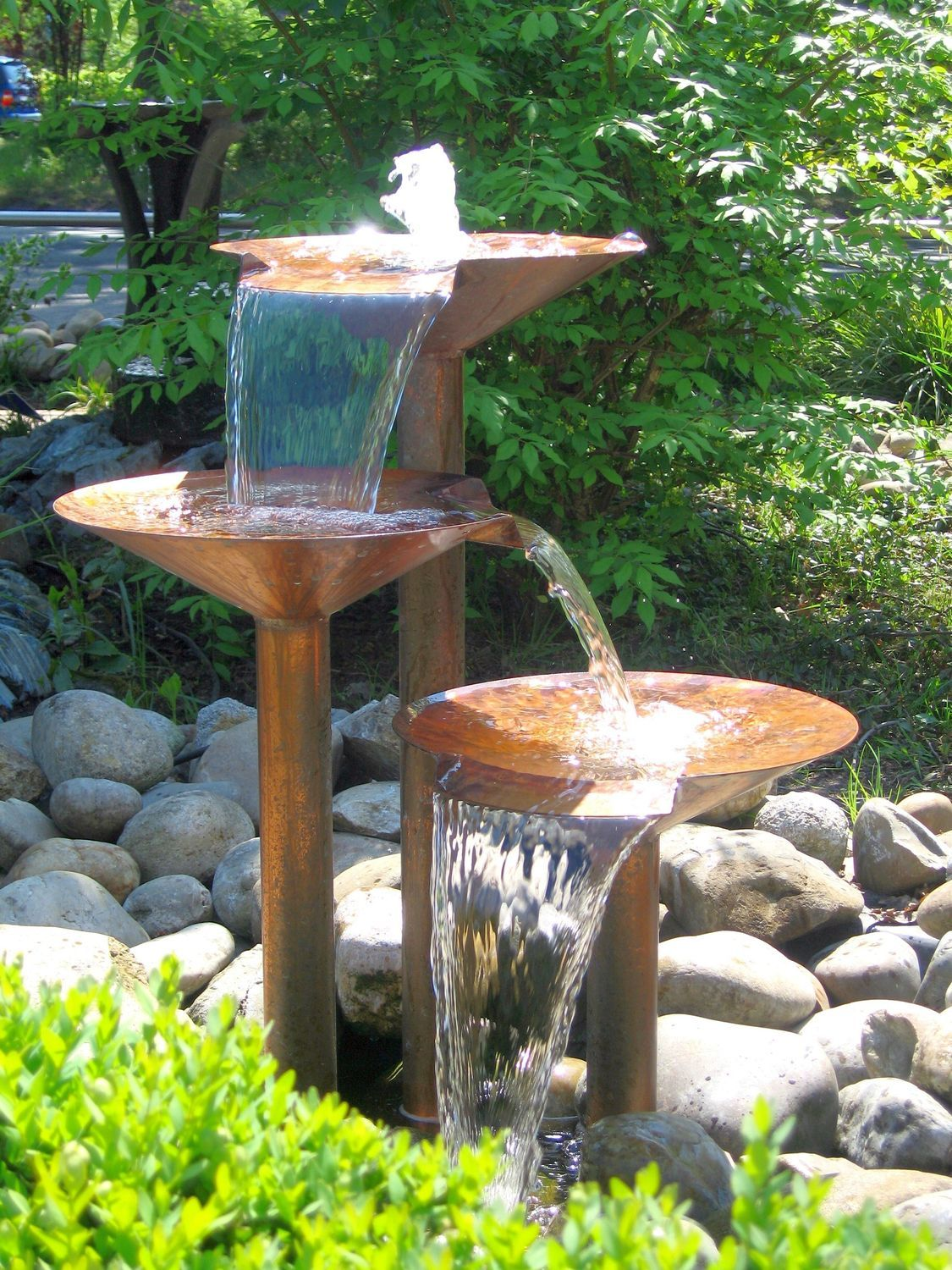 Garden Fountain Contemporary Kaskaden Melodie Slink