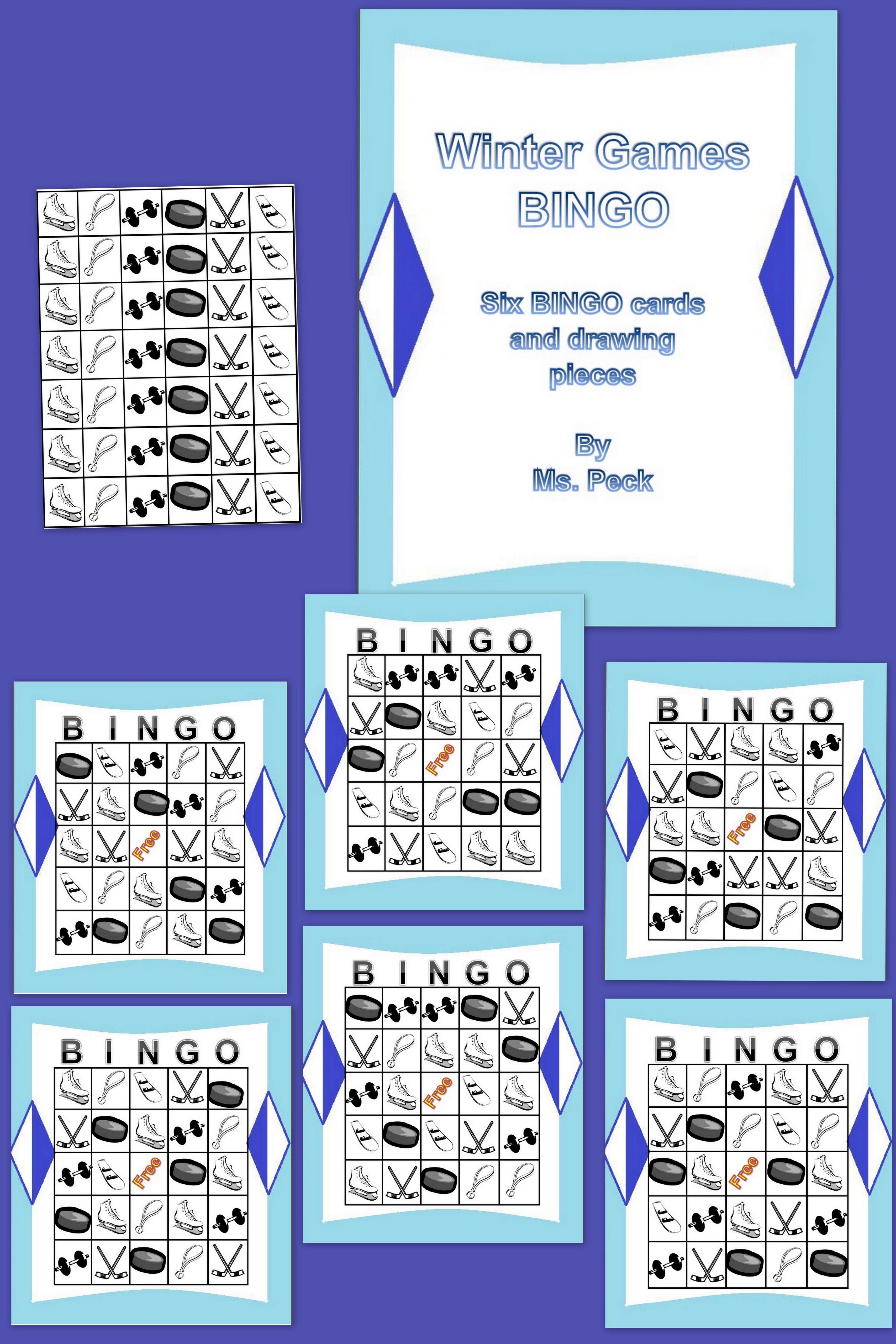Winter Sports Bingo