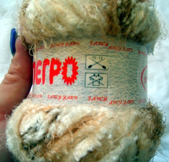 Alegro Scarf Yarn Soft shaggy yarn in light earth by HandyFamily ...