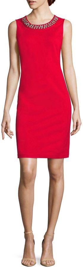 09f9774a LIZ CLAIBORNE Liz Claiborne Sleeveless Sheath Dress-Talls #fashion #autumn  #winter #sale #new #brand
