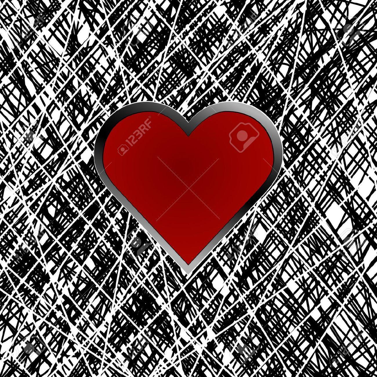 Textura De Fondo Abstracto Con El Corazón Ilustraciones Vectoriales, Clip Art Vectorizado Libre De Derechos. Image 13090707.
