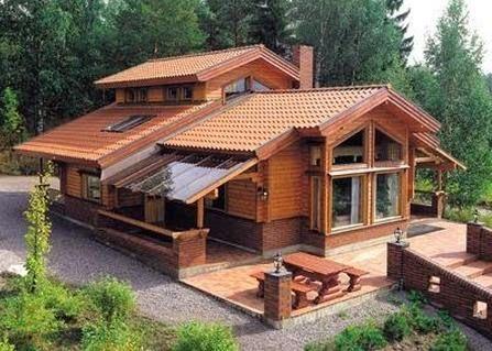 Casa en madera y piedra hogar dulce hogar - Casas prefabricadas madera y piedra ...