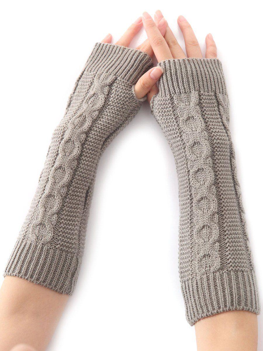 Christmas Winter Hemp Decorative Pattern Crochet Knit Arm Warmers ...