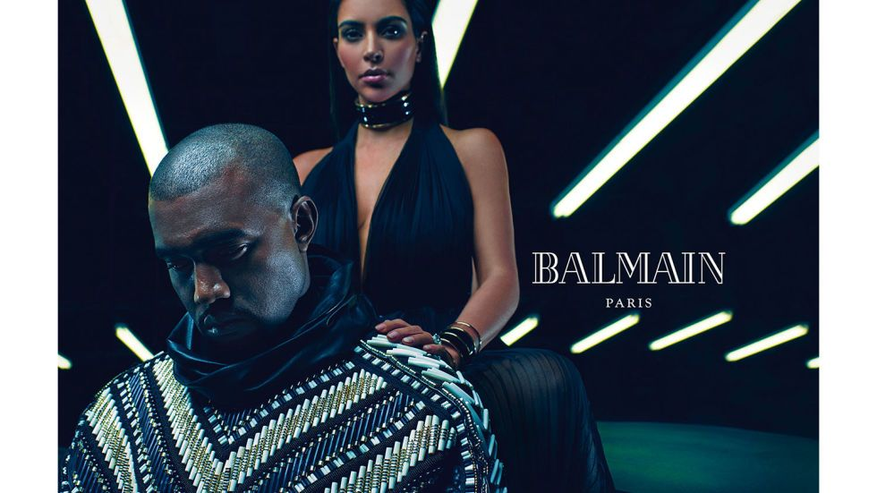 Models: Kim Kardashian and Kanye West Photographer: Mario Sorrenti