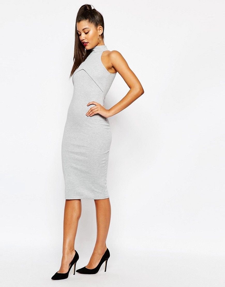 Bild 4 von Missguided – Hochgeschlossenes, figurbetontes Kleid ...