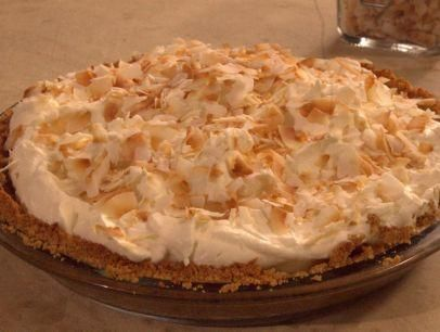"Banana and Coconut Cream Pie with Graham Cracker Crust (Reunion on the Farm) - Nancy Fuller, ""Farmhouse Rules"" on the Food Network."