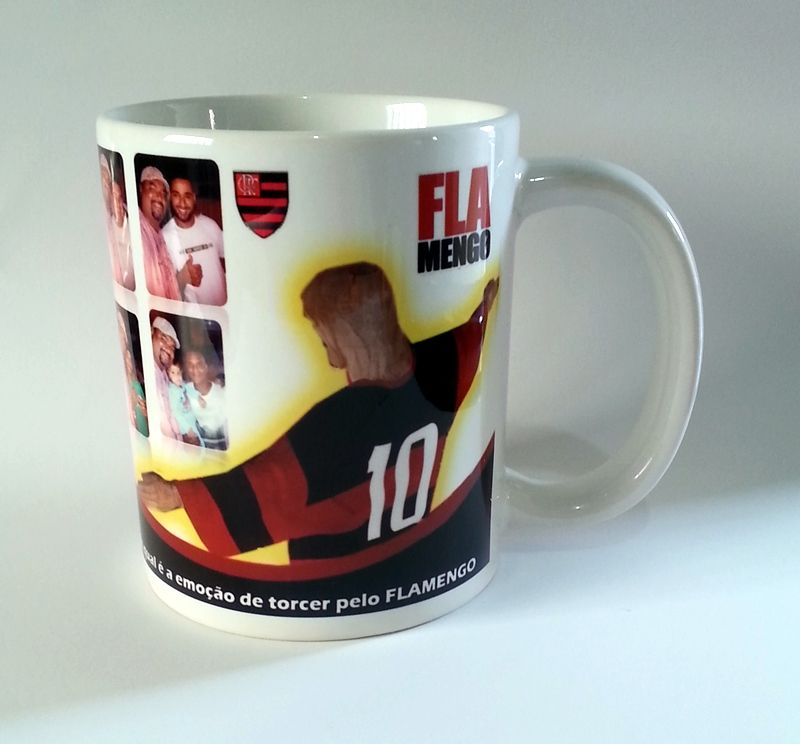 Caneca Cerâmica Personalizada presente ideal com foto time de futebol  Flamengo cdb602b563806