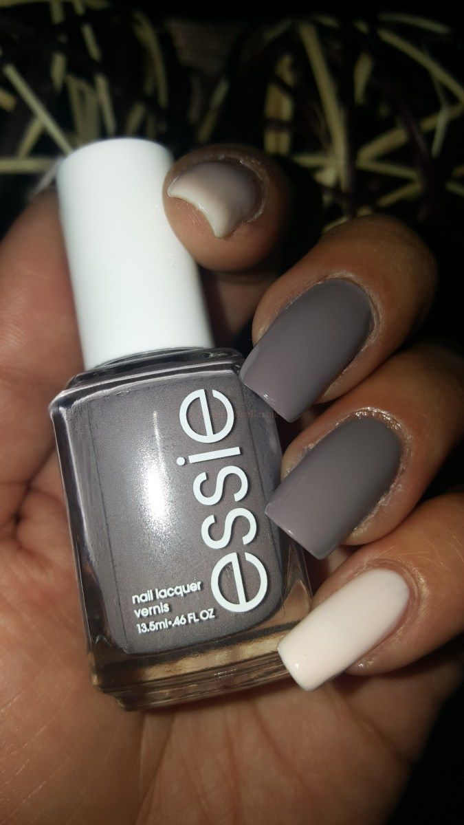 Perfect Chic Pink and Grey Nail Polish Pairing with @Essie ...