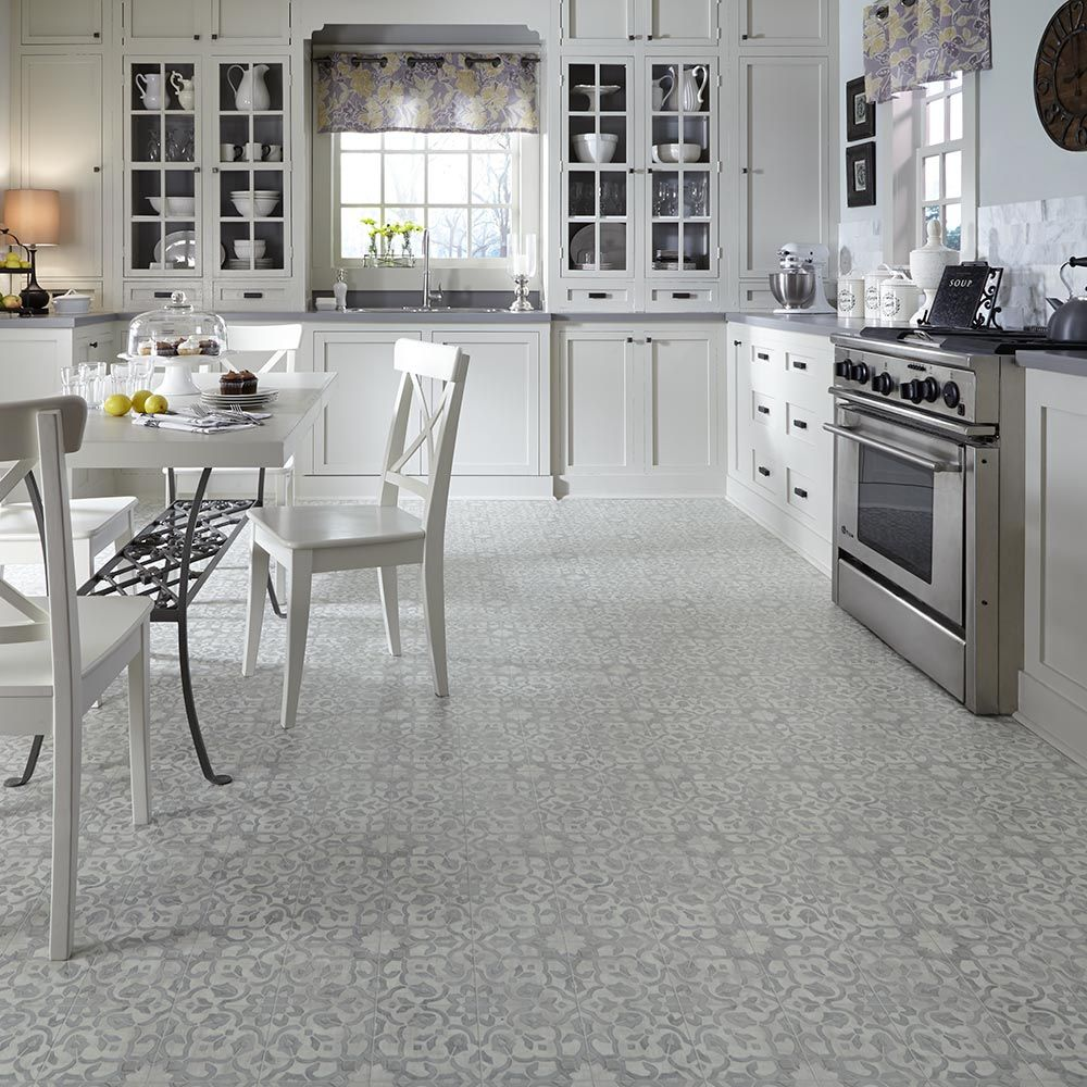 Kitchen Sheet Vinyl Flooring Vintage Ornate Design Inspiration Resilient Vinyl Floor For