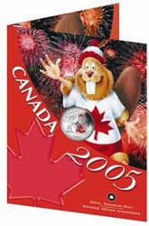Canada Day, Beaver Colourised in Booklet 2005 25 cent Circulation Coin