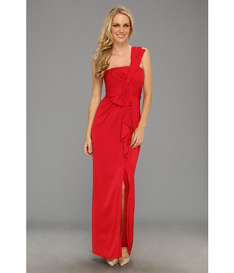 3bad59d1df BCBGMAXAZRIA Barbara One-Shoulder Satin Evening Gown New Red - Zappos.com  Free Shipping BOTH Ways