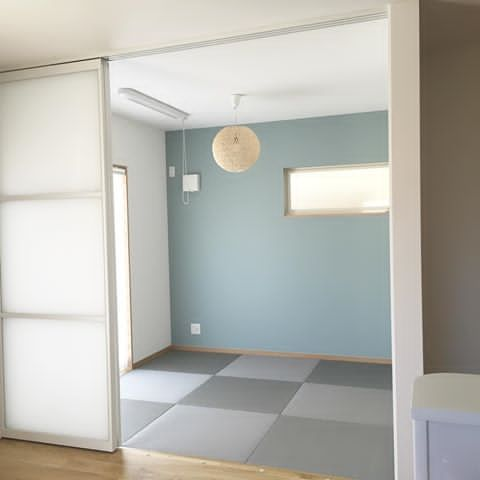 4 5畳の小さな和室 和室 琉球畳 アクセントクロス マイホーム
