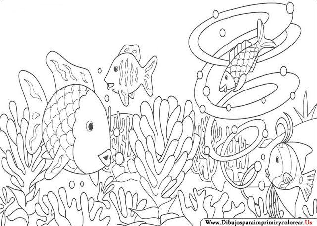 Dibujos de El Pez Arcoiris para Imprimir y Colorear | Cuentos ...