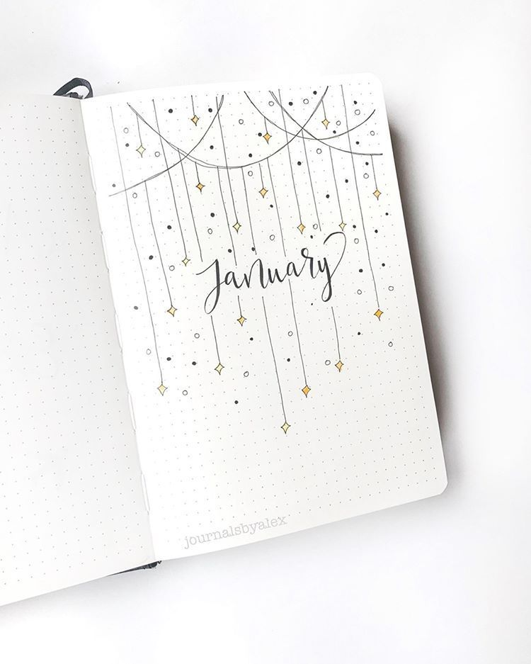 "alex on Instagram: ""hello january! i'm so excited to be starting a new bullet journal! happy new year!! #journaling #bulletjournal #januaryspread #newyear…"" - Gladys"