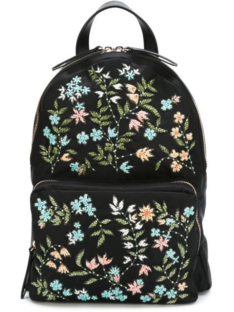 RED VALENTINO Floral Beaded  Backpack. #redvalentino #bags #leather #pvc #nylon #backpacks #